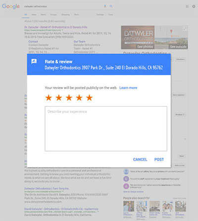Google Review Page