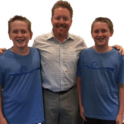 Jacob and Joshua with Dr. Datwyler