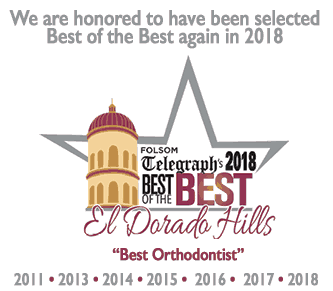 best of the best 2017 - We love doing orthodontics in El Dorado Hills, CA