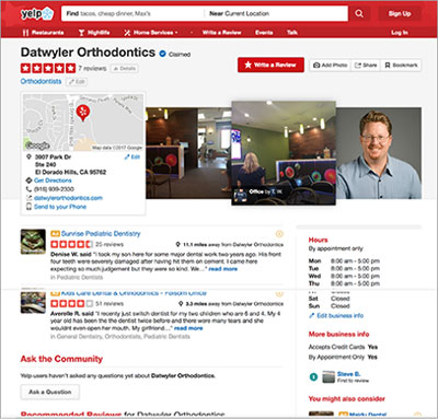 Yelp Review Page